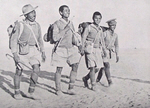 Four Ghurkas who escaped from Tobruk, 1942