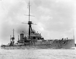 Side view of HMS Dreadnought