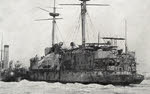 HMS Edinburgh after use as target, 1908