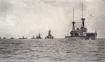 HMS Neptune leads line of Dreadnoughts