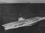 HMS Ocean leaving Ireland behind, en route to Gib Sunday 16th Dec 1945