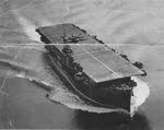 HMS Ravager from the air