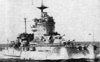 HMS Warspite after her second refit