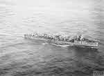 HMS Zubian from the air