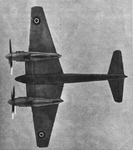 De Havilland Hornet from below
