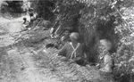 Indian Troops in Slit Trench, Rapido Front, 1944
