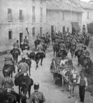 Italian Cavalry in an Austrian Village, 1915
