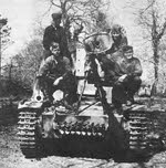 Front view of Marder II with Crew