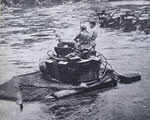 Matilda II crossing Puriata River, Bougainville