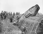 Mk IV Tank 'Hyacinth' Ditched at Cambrai, 20 November 1917