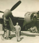 Robert S. Tucker Sr with Mosquito PR.XVI