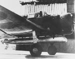 Nakajima B5N1 'Kate' taking off from Akagi