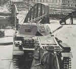 Panzer II at bridge, 1940