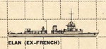 US Plan of Elan Class minesweeping sloop (France)