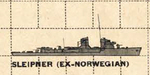 US Plan of Sleipner Class Destroyer (Norway)