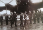 Lancaster Mk I during Royal Visit to Nutts Corner, 1942