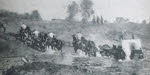 Russian artillery retreating, Vistula Front, 1915