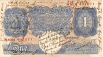 Pound Note signed by ground crew, 2nd Strategic Air Depot