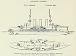 Plans of SMS Prinz Adalbert
