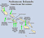 Map of Allied Invasions, Solomon Islands