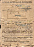 Summons for Medical, 12 December 1940 - Front