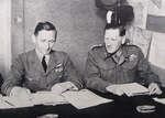 Air Marshal Tedder and General Auchinleck, Middle East War Council, 1942